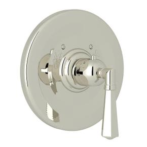 Palladian Thermostatic Trim Plate without Volume Control - Polished Nickel with Metal Lever Handle