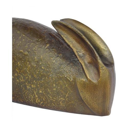Brass Bunny Sculpture
