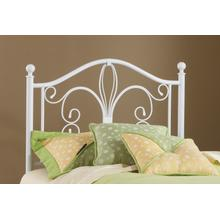 View Product - Ruby Twin Metal Headboard With Frame, Textured White