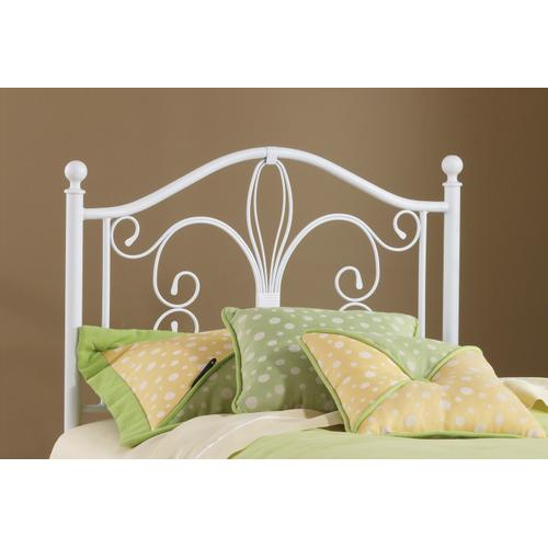 Ruby Twin Metal Headboard With Frame, Textured White