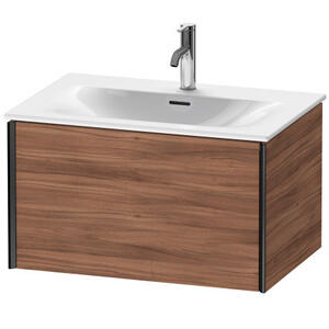 Vanity Unit Wall-mounted, Natural Walnut (decor)