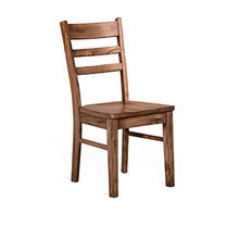 Doe Valley Ladderback Chair w/ Wood Seat