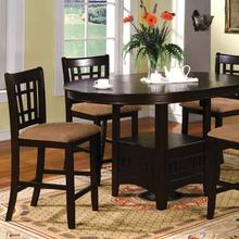 See Details - Metropolis Oval Counter Ht. Table