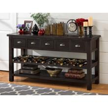 "Prospect Creek Pine 60"" Wine Rack/server"