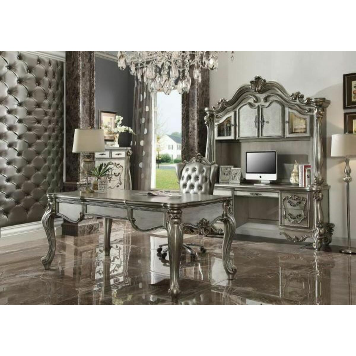 ACME Versailles Executive Desk (Leg) - 92820 - Antique Platinum