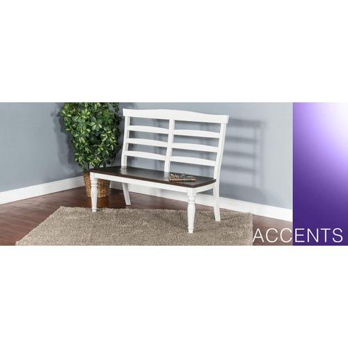 Bourbon County Ladderback Bench w/ Solid Oak Seat