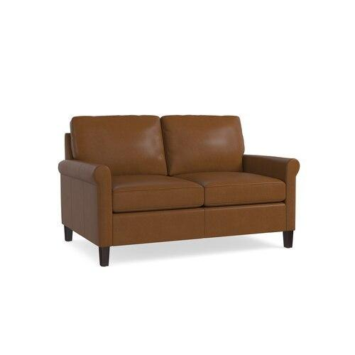 Wellington Leather Loveseat