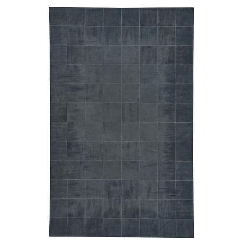Laramie-Brushed Blocks Midnight Flat Woven Rugs