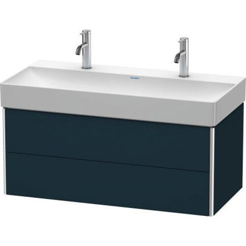 Product Image - Vanity Unit Wall-mounted, Night Blue Satin Matte (lacquer)