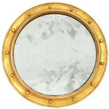 Our Large Round Antique Mirror Is the Essential Accent for Your Entry Hall or Bathroom Vanity. Its Federal Style Frame Is Hand Finished In Glimmering Gold LEAF.