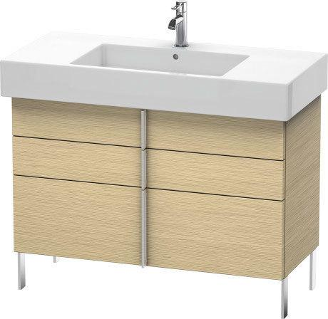 Vanity Unit Floorstanding, Brushed Oak (real Wood Veneer)