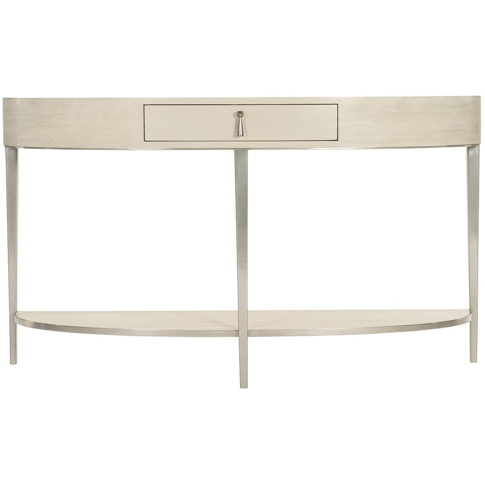 East Hampton Demilune Console Table in Cerused Linen (395)