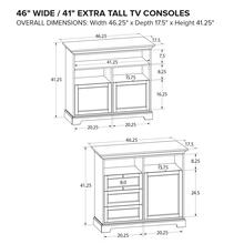 Howard Miller Extra Tall Custom TV Console XT46B