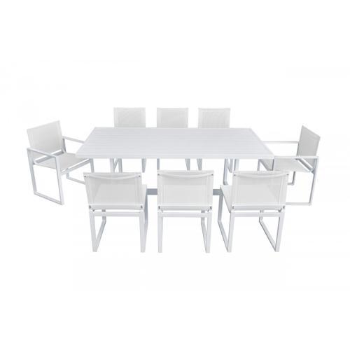 VIG Furniture - Renava Wake - Modern White Outdoor Dining Table