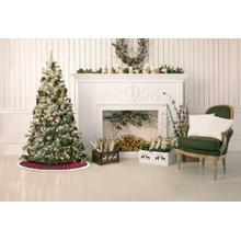 """See Details - Home for the Holiday Qy412 Red 48"""" X 48"""" Round Tree Skirt"""