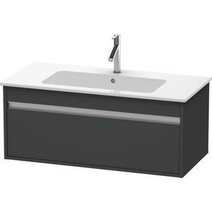 Vanity Unit Wall-mounted, Graphite Matte (decor)