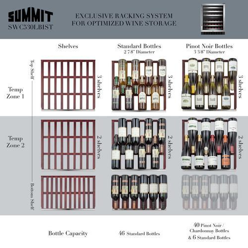 "24"" Wide Built-in Wine Cellar, ADA Compliant"