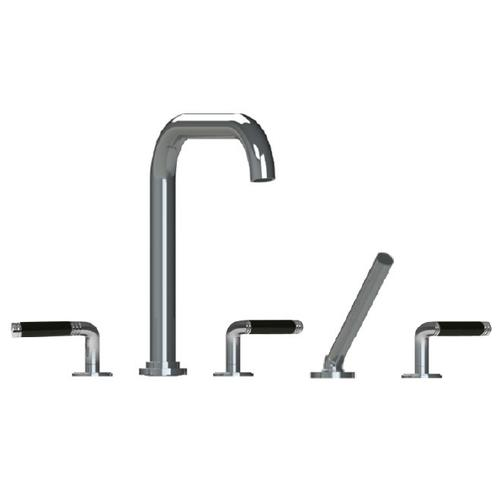 3955cb - Trim Roman Tub Filler With Hand Shower in Polished Chrome