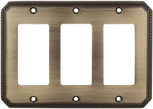 Triple Rocker Beaded Switchplate in (SB Shaded Bronze, Lacquered) Product Image