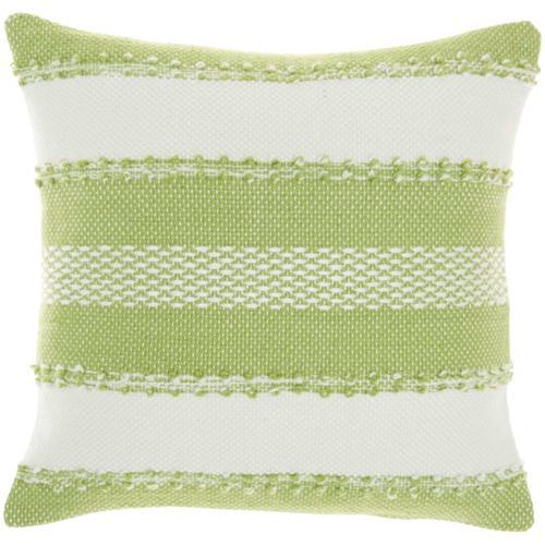 """Outdoor Pillows Vj088 Green 18"""" X 18"""" Throw Pillow"""