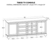TS83D Custom TV Console