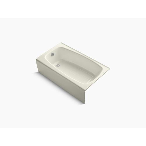 "Biscuit 54"" X 31"" Alcove Bath With Left-hand Drain"