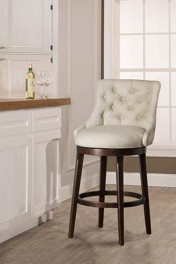Hillsdale FurnitureHalbrooke Swivel Counter Height Stool, Cream