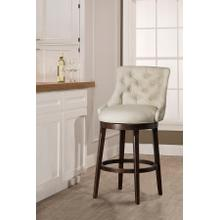 Halbrooke Swivel Counter Height Stool, Cream
