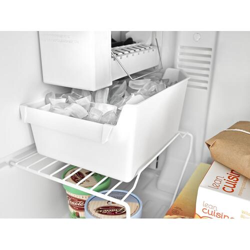 28-inch Top-Freezer Refrigerator with Dairy Bin Black