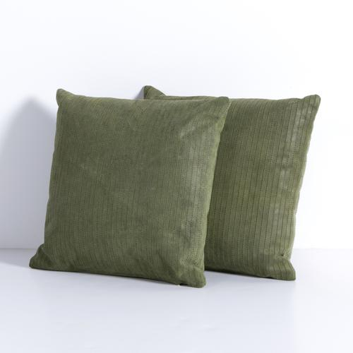Montana Peridot Cover Sevanne Embossed Leather Pillow Sets