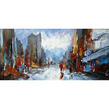 Product Image - Modrest Abstract City Oil Painting