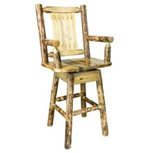 Glacier Country Collection Captains Barstool with Swivel Seat