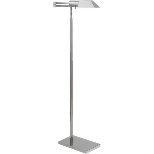 - Studio Classic 43 inch 40.00 watt Polished Nickel Swing-Arm Floor Lamp Portable Light