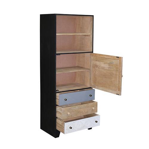 Gallery - Tall Cabinet - Multi/Black Finish