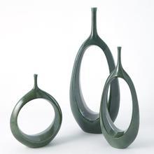 See Details - Open Oval Ring Vase-Emerald-Lg