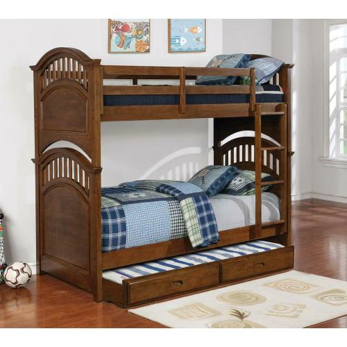 Halsted Casual Walnut Twin-over-twin Bunk Bed - No Mattress Included
