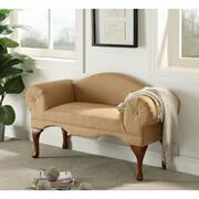 ACME Aston Bench w/Rolled Arm - 05630 - Beige Microfiber Product Image