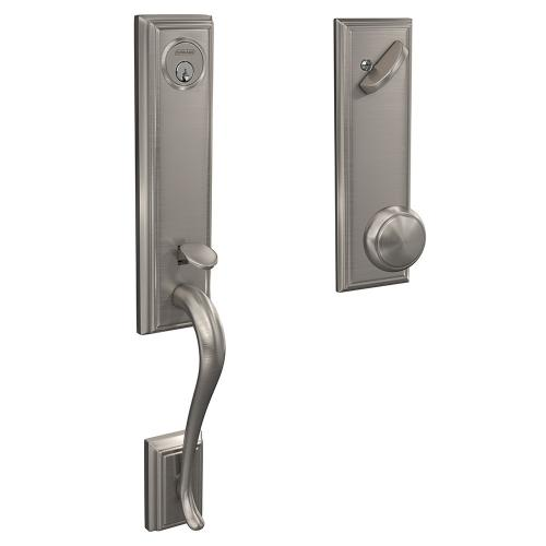 Custom Addison 3/4 Trim Single Cylinder Handleset with Andover Knob - Satin Nickel