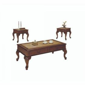 ACME Trudeau 3Pc Pack Coffee/End Table Set - 09652 - Cherry