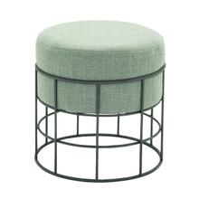 "MTL OUTDOOR FABRIC STOOL 17""W, 19""H"