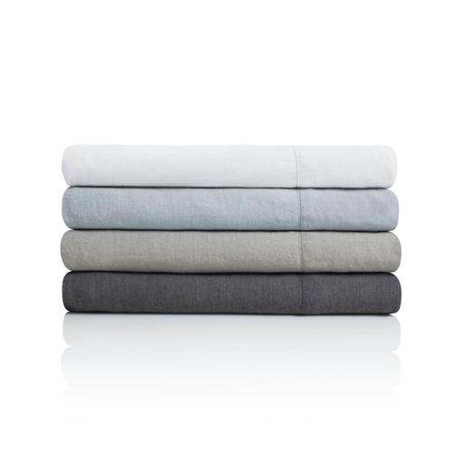 French Linen Duvet Set King Charcoal