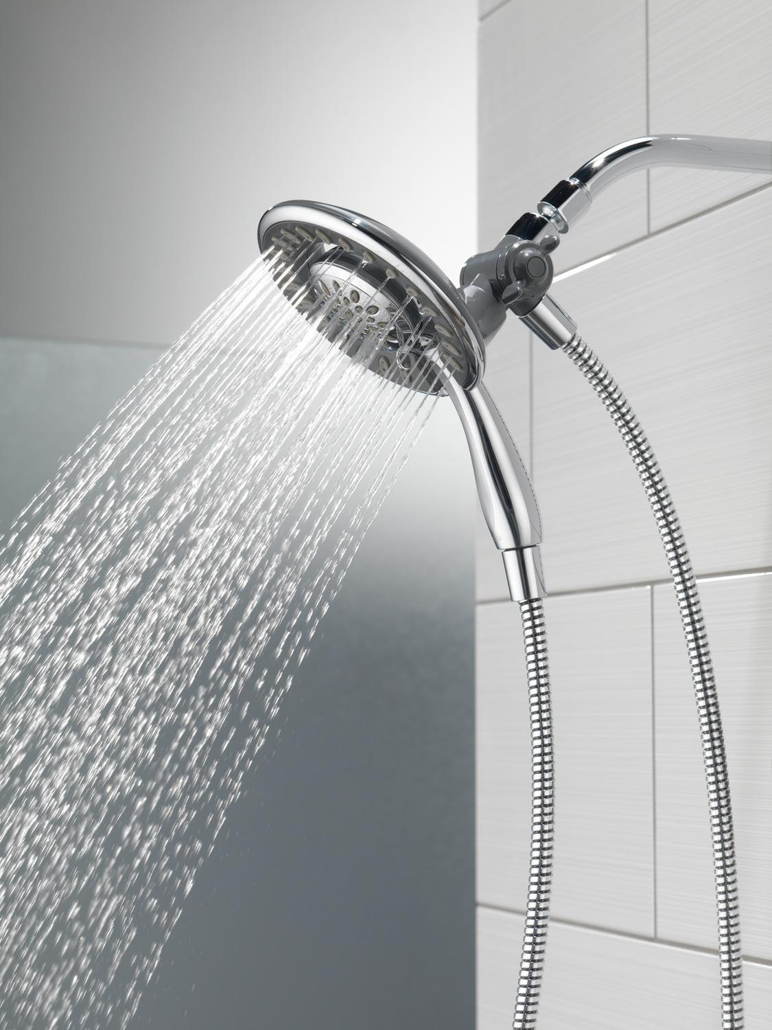 Chrome In2ition ® 4-Setting Two-in-One Shower
