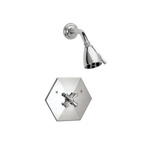 LA VERRE & LA CROSSE Pressure Balance Shower Set PB3171 - Satin Gold with Satin Nickel