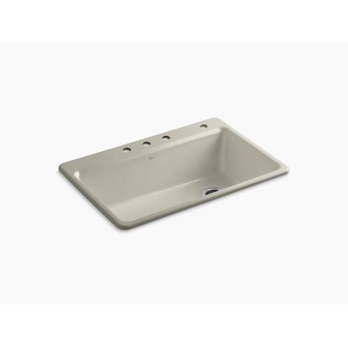 """Sandbar 33"""" X 22"""" X 9-5/8"""" Top-mount Single Bowl Workstation Kitchen Sink W/ Accessories"""