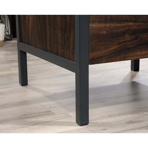Metal & Wood L-Shaped Home Office Desk