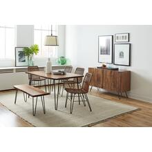 "Nature's Edge 60"" Dining Table With 4 Hairpin Chairs"