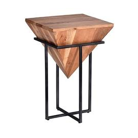 See Details - Accent Stool/Table - Natural/Iron Finish