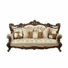 ACME Shalisa Sofa w/7 Pillows - 51050 - Fabric & Walnut
