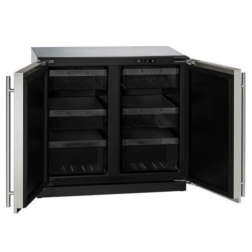 "U-Line - 3036rr 36"" Refrigerator With Stainless Solid Finish (115 V/60 Hz Volts /60 Hz Hz)"