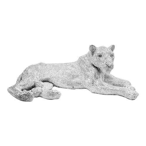 Panthera Statue Silver